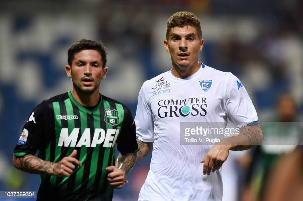 Stefano Sensi of Sassuolo and Giovanni Di Lorenzo of Empoli during the serie A match between US Sassuolo and Empoli at Mapei Stadium Citta' del...