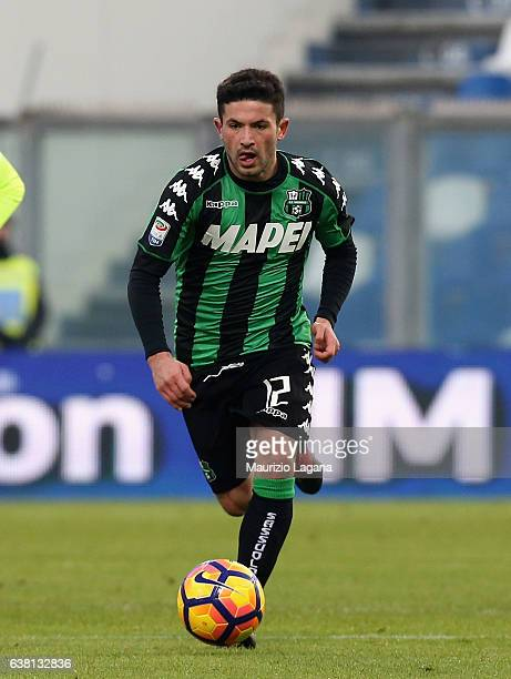 Stefano Sensi of Sassuolo during the Serie A match between US Sassuolo and FC Torino at Mapei Stadium Citta' del Tricolore on January 8 2017 in...