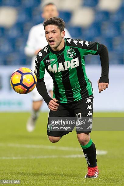 Stefano Sensi of US Sassuolo Calcio in action during the TIM Cup match between US Sassuolo and AC Cesena at Mapei Stadium Citta' del Tricolore on...