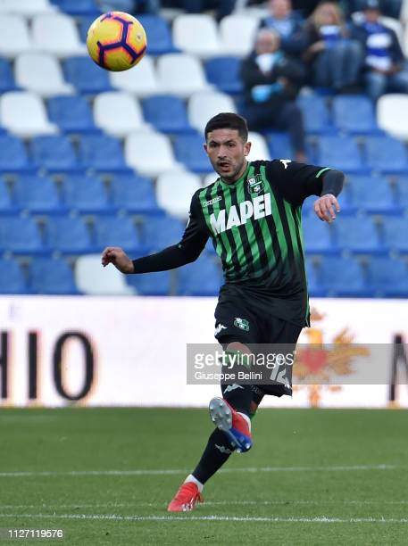 Stefano Sensi of US Sassuolo in action during the Serie A match between US Sassuolo and SPAL at Mapei Stadium Citta' del Tricolore on February 24...