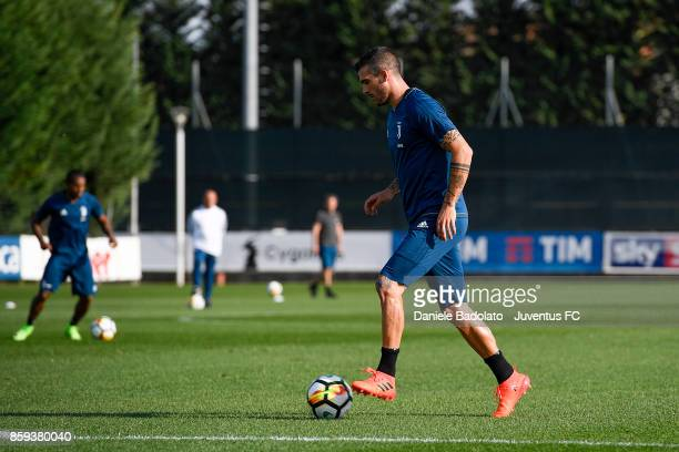 Stefano Sturaro during a Juventus training session on October 9 2017 in Vinovo Italy
