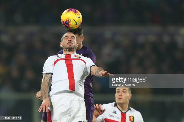 Stefano Sturaro of Genoa CFC in action during the Serie A match between ACF Fiorentina and Genoa CFC at Stadio Artemio Franchi on January 25 2020 in...