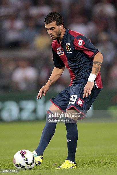 Stefano Sturaro of Genoa CFC in action during the Serie A match between Genoa CFC and SSC Napoli at Stadio Luigi Ferraris on August 31 2014 in Genoa...