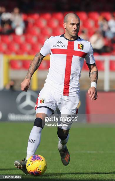 Stefano Sturaro of Genoa during the Serie A match between US Lecce and Genoa CFC at Stadio Via del Mare on December 8 2019 in Lecce Italy