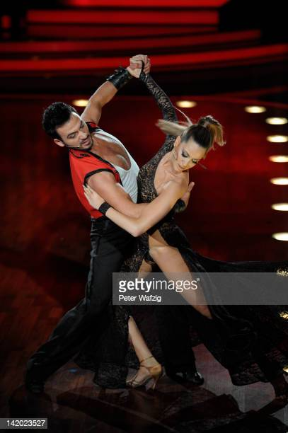 Stefano Terrazzino and Mandy Capristo perform during 'Let's Dance' Third Show at Coloneum on March 28 2012 in Cologne Germany