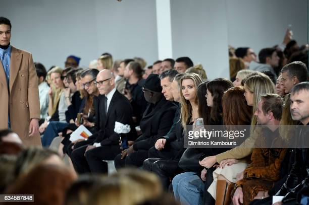 Stefano Tonchi and Abbey Lee Kershaw attend the Calvin Klein Collection Front Row during New York Fashion Week on February 10 2017 in New York City