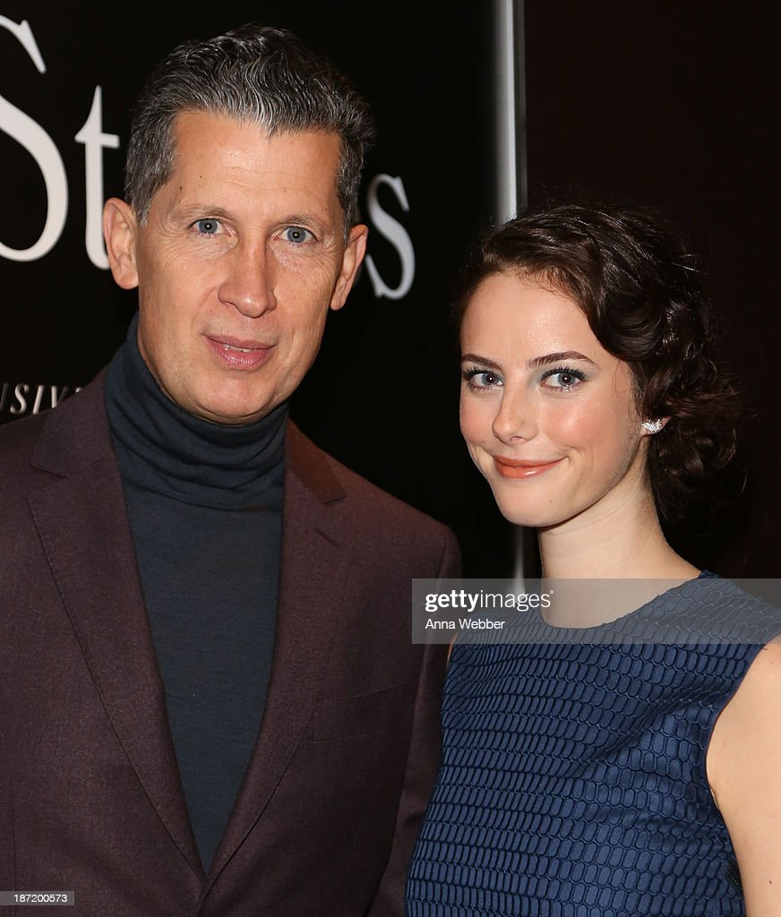 Stefano Tonchi and Actress Kaya Scoledario (wearing Ferragamo Fall/Winter Collection) attend Ferragamo And Stefano Tonchi Present A VIP Screening Of Premier Film Walking Stories on November 6, 2013 in New York City.