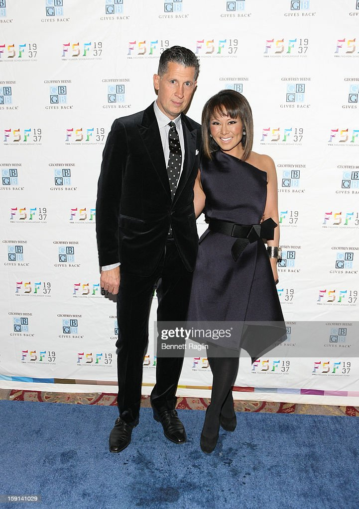 Stefano Tonchi and Alina Choo attends the 2013 YMA Fashion Scholarship Fund Geoffrey Beene Awards Dinner at The Waldorf=Astoria on January 8, 2013 in New York City.