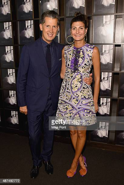 "Stefano Tonchi and Giovanna Battaglia attend the ""Patrick Demarchelier"" special exhibition preview to celebrate NYFW: The Shows for Spring 2016 at..."