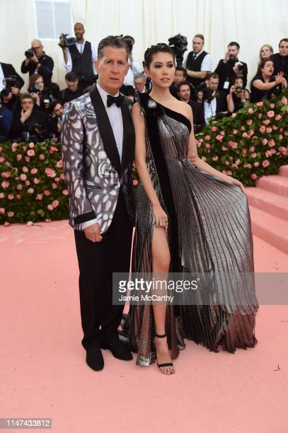Stefano Tonchi and Hikari Mori attend The 2019 Met Gala Celebrating Camp Notes on Fashion at Metropolitan Museum of Art on May 06 2019 in New York...