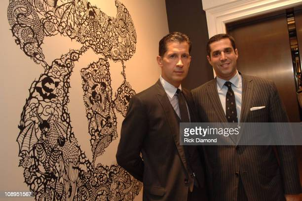 """Stefano Tonchi and Jim Gold during """"T Style"""" Magazine Launch Party at Bergdorf Goodman in New York City, New York, United States."""