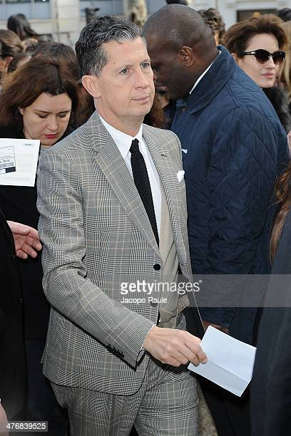 Stefano Tonchi arrives at the Miu Miu show as part of the Paris Fashion Week Womenswear Fall/Winter 20142015 on March 5 2014 in Paris France