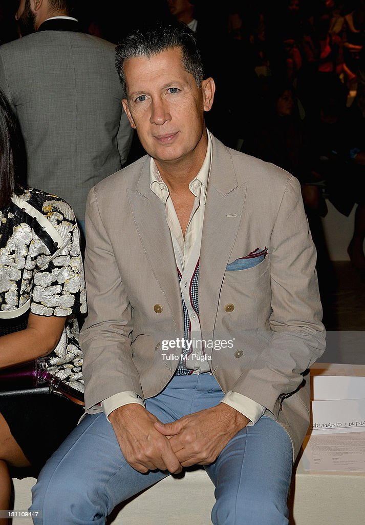 Stefano Tonchi attends the Max Mara show as a part of Milan Fashion Week Womenswear Spring/Summer 2014 on September 19, 2013 in Milan, Italy.
