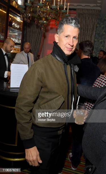 Stefano Tonchi attends the Victoria Beckham x YouTube Fashion Beauty After Party at London Fashion Week hosted by Derek Blasberg and David Beckham at...