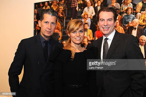 Stefano Tonchi editor in Chief of W MagazineAlex Prager and David Maupin attend the reception for Alex Prager's Face In The Crowd art exhibition at...