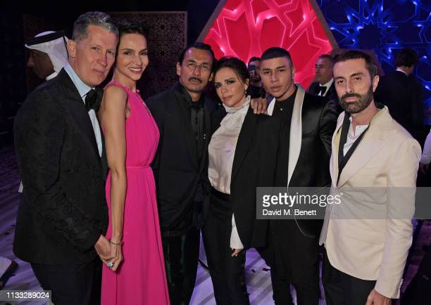 Stefano Tonchi Farida Khelfa Haider Ackermann Victoria Beckham Olivier Rousteing and Giambattista Valli attend the Fashion Trust Arabia Prize awards...