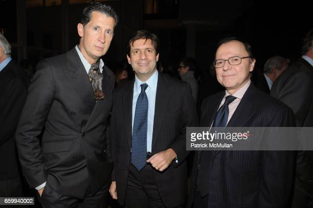 Stefano Tonchi Francesco Talo and Dr Aniello Musella attend ITALIAN TRADE COMMISSION Kicks Off MADE IN ITALY On Madison at The Morgan Library Museum...