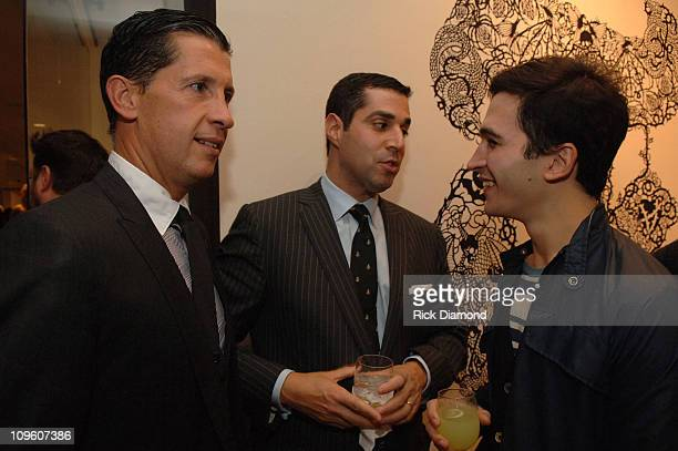 """Stefano Tonchi, Jim Gold and Lazaro Hernandez during """"T Style"""" Magazine Launch Party at Bergdorf Goodman in New York City, New York, United States."""