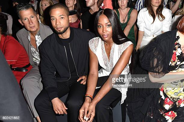 Stefano Tonchi Jussie Smollett and Naomi Campbell attend the Hood By Air fashion show during New York Fashion Week The Shows at The Arc Skylight at...
