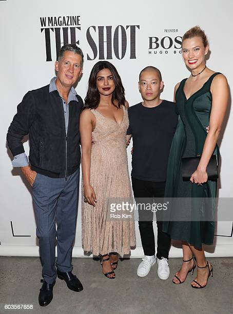 Stefano Tonchi Priyanka Chopra Jason Wu and Karlie Kloss attend the W Magazine and Hugo Boss Celebrate The Shot event at the International Center of...