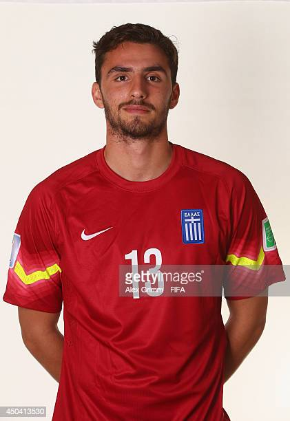 Stefanos Kapino of Greece poses during the official FIFA World Cup 2014 portrait session on June 10 2014 in Aracaju Brazil