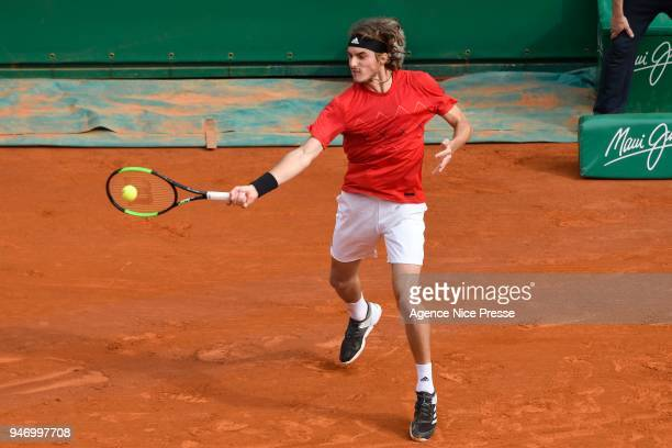 Stefanos Tsisipas of Greece during the Monte Carlo Rolex Masters 1000 at Monte Carlo on April 16 2018 in Monaco Monaco