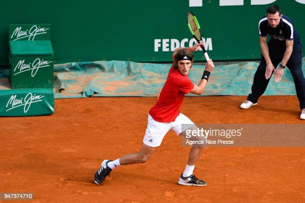 Stefanos Tsitsipas of Greece during the Monte Carlo Rolex Masters 1000 at Monte Carlo on April 16 2018 in Monaco Monaco