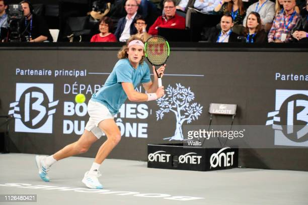 Stefanos Tsitsipas of Greece during the Open Marseille on February 20 2019 in Marseille France
