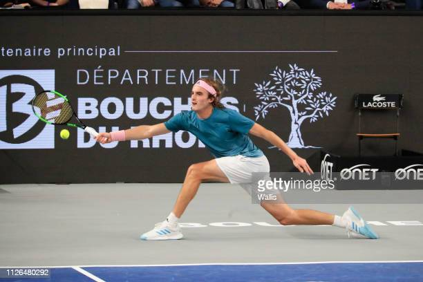 Stefanos Tsitsipas of Greece during the Open of Marseille on February 20 2019 in Marseille France