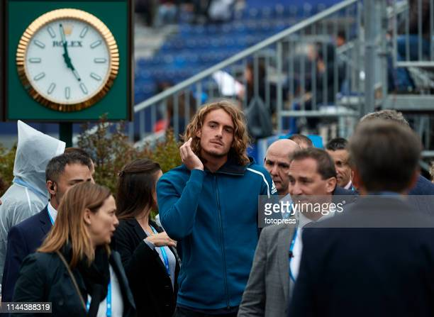 Stefanos Tsitsipas of Greece walks through the VIP Lounge during Open Banc Sabadell 2019 on April 22 2019 in Barcelona Spain