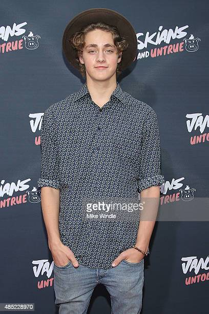 Steffan Argus attends the premiere of Awesomeness TV's Janoskians Untold and Untrue at Regency Bruin Theatre on August 25 2015 in Los Angeles...