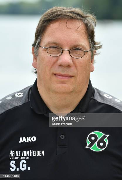 Steffen Gniesmer physiotherapist of Hannover 96 poses during the team presentation at on July 14 2017 in Hanover Germany