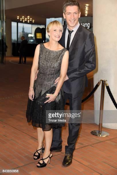 Steffen Hallaschka and his wife AnneKatrin Hallaschka attend the Deutscher Radiopreis at Elbphilharmonie on September 7 2017 in Hamburg Germany