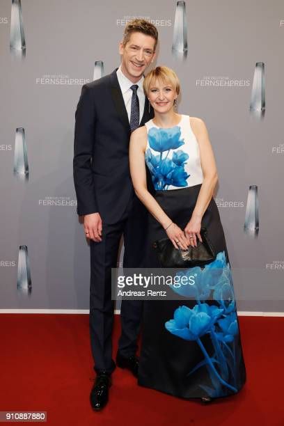 Steffen Hallaschka and his wife AnneKatrin Hallaschka attend the German Television Award at Palladium on January 26 2018 in Cologne Germany