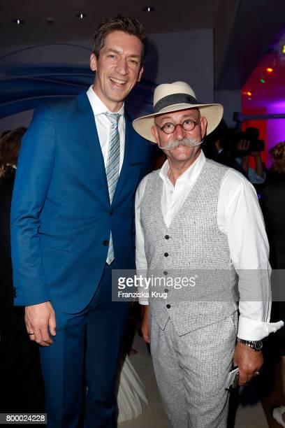 Steffen Hallaschka and Horst Lichter attend the 'Bertelsmann Summer Party' at Bertelsmann Repraesentanz on June 22 2017 in Berlin Germany