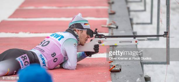 Steffen Lehmker of WSV ClausthalZellerfeld disability plexus paralysis class LW8 discipline paraskinordic during the shooting at the Nordic Center...