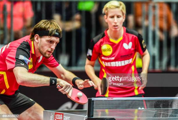Steffen Mengel of Germany in action during the Table Tennis World Championship at Messe Duesseldorf on May 30, 2017 in Dusseldorf, Germany.