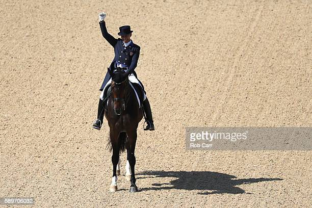 Steffen Peters of the United States riding Legolas 92 competes in the Dressage Individual Grand Prix Freestyle on Day 10 of the Rio 2016 Olympic...