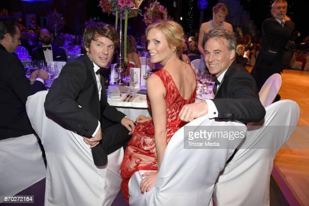 Steffen Schroeder Melanie Marschke and Marco Girnth attend the Leipzig Opera Ball on November 4 2017 in Leipzig Germany