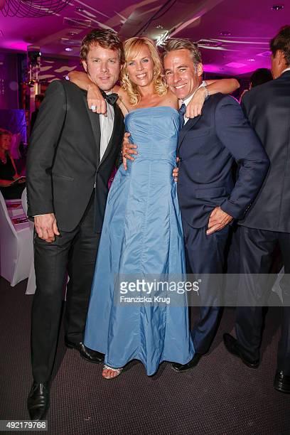 Steffen Schroeder Melanie Marschke and Marco Girnth attend the TULIP Gala 2015 on October 10 2015 in Berlin Germany