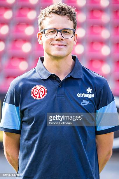 Steffen Troester poses during the 1 FSV Mainz Team Presentation at Coface Arena on July 18 2014 in Mainz Germany