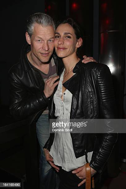 Steffen Wink and Genoveva Mayer attend the Ndf Afterwork Party at 8 Seasons on March 20 2013 in Munich Germany