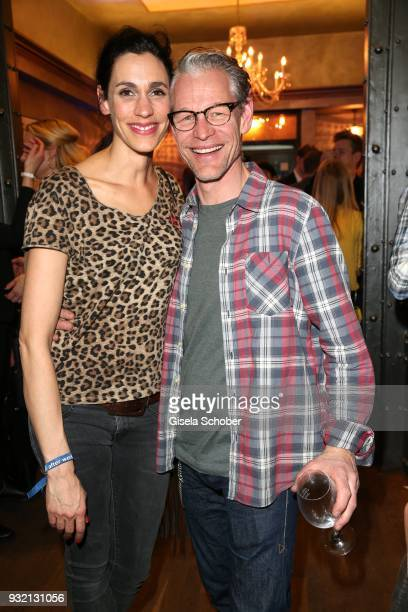 Steffen Wink and his wife Genoveva Mayer during the NdF after work press cocktail at Parkcafe on March 14 2018 in Munich Germany
