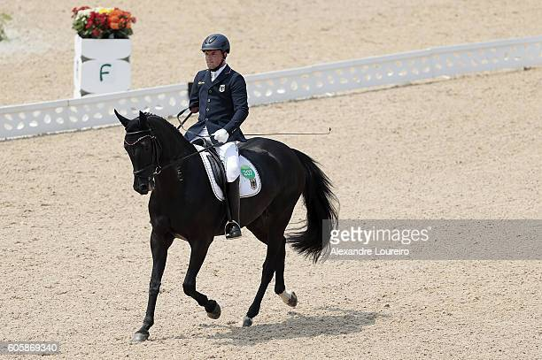 Steffen Zeibig of Germany onboard Feel Good 4 during Equestrian Dressage Individual Championship Test Grade II Final on day 8 of the Rio 2016...