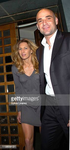 Steffi Graf and Andre Agassi during Steffi Graf and Andre Agassi Sighting in London February 21 2007 in London Great Britain