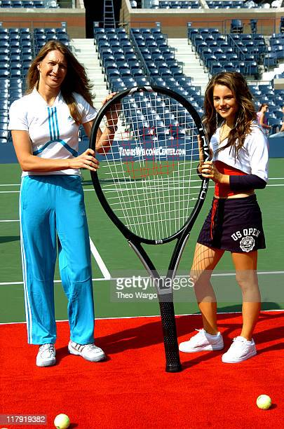 Steffi Graf and JoJo during 2004 US Open Arthur Ashe Kids' Day at USTA National Tennis Center in Queens New York United States