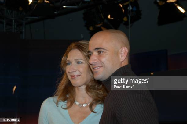 "Steffi Graf, Andre Agassi, ZDF-Serie: ""J o h a n n e s B . K e r n e r - S h o w"" vom , Herzogenauchrach, Deutschland, , P.-Nr.: 709/2006,..."