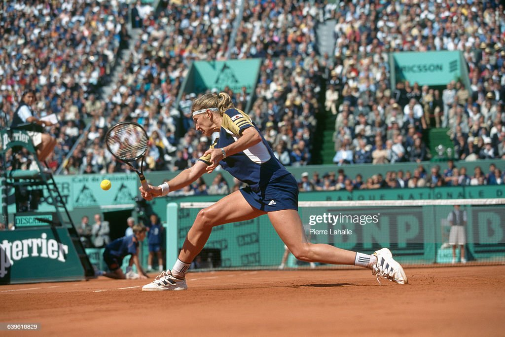 Steffi Graf from Germany during 1999 Roland Garros French Open.