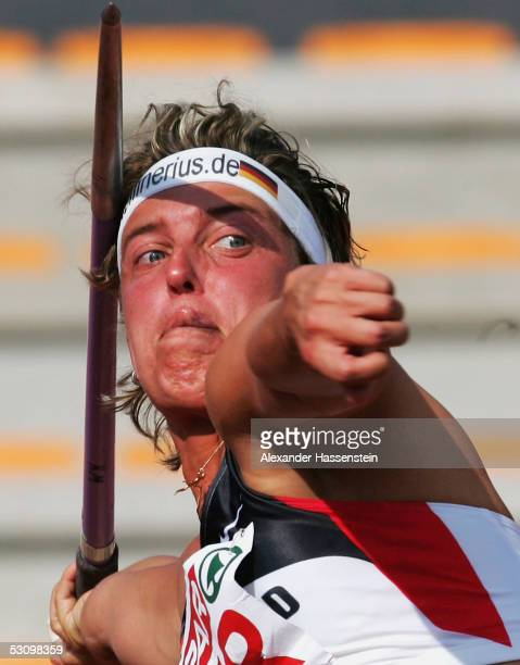 Steffi Nerius of Germany wins the women?s javelin final during the Spar European Cup 2005 on June 18, 2005 in Florence, Italy.