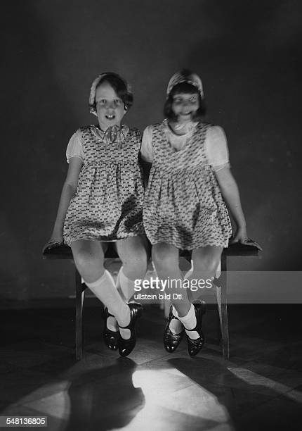 Steffi Nossen School of Dance Two girls sitting on a bench 1931 Photographer James E Abbe Published by 'Zeitbilder' 47/1931 Vintage property of...